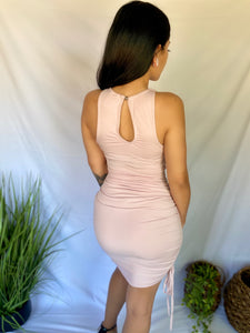 Leah Ruched Dress - Blush