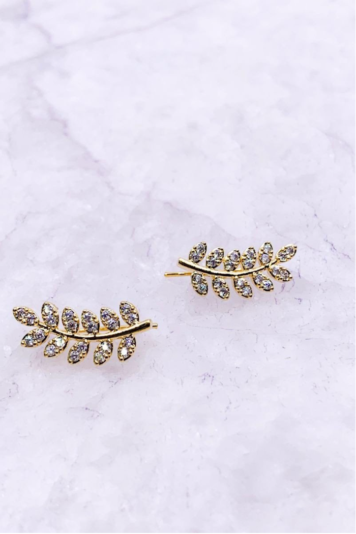 Anya Leaf Earrings - Gold