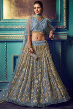 Load image into Gallery viewer, Blueish Grey Exclusive Lehenga