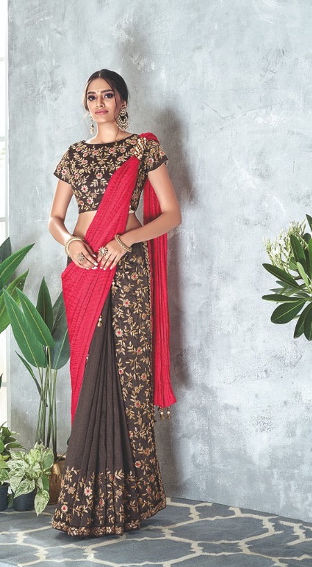 Stunning Readymade saree to add in your wardrobe .