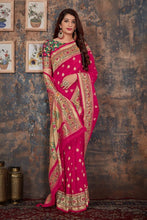 Load image into Gallery viewer, Pink Paithani Patola Silk Saree
