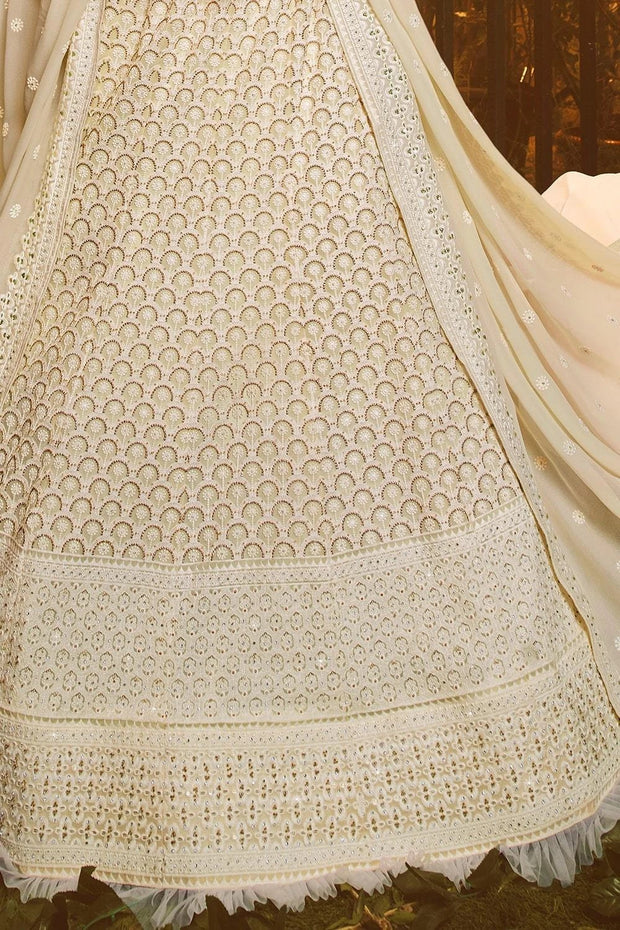 Beautiful Cream White Lehenga