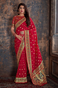 Red Paithani Patola Silk Saree