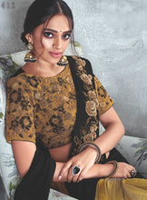 Load image into Gallery viewer, Stunning Golden Black Readymade saree to make you look classy