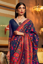 Load image into Gallery viewer, Denim Blue Banarasi Silk Saree