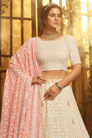 Beautiful Bisque White Lehenga