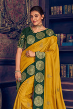Load image into Gallery viewer, Corn yellow woven paithani saree