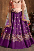 Load image into Gallery viewer, Purple Silk Party wear Lehenga