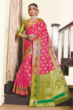 Load image into Gallery viewer, Exclusive Zari woven Soft Banarsi silk party wear saree