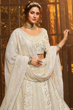Load image into Gallery viewer, Beautiful Off White Lucknowi Lehenga.