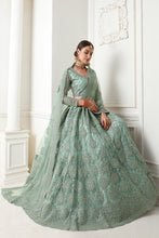 Load image into Gallery viewer, Light green Designer Lehenga Choli With Heavy Embroidery W