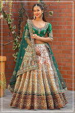 Load image into Gallery viewer, Exclusive Peding green Lehenga
