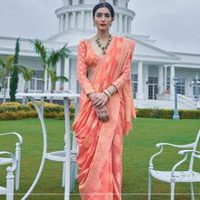Load image into Gallery viewer, Flamingo Pink Lucknowi Chinkari Saree