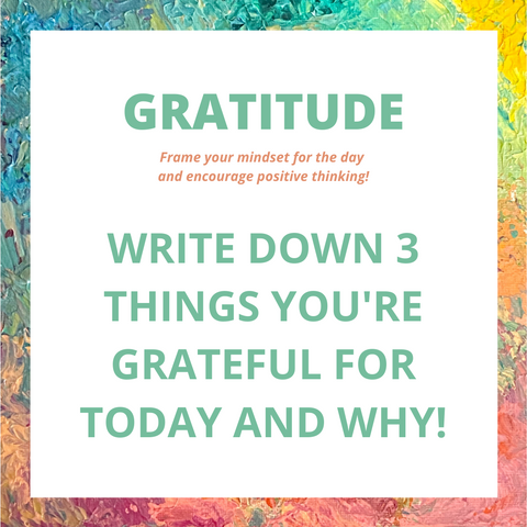 gratitude journaling prompt and idea