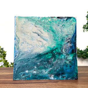 """An Ocean Upon Me"" Textured Silicone and Acrylic Fluid Painting"