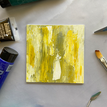 "Load image into Gallery viewer, ""Deconstructed Bee"" Abstract Acrylic Painting"