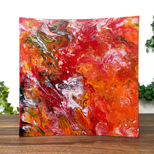 """Floor Is Lava"" Textured Silicone and Acrylic Fluid Painting"