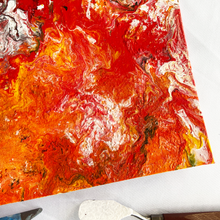 "Load image into Gallery viewer, ""Floor Is Lava"" Textured Silicone and Acrylic Fluid Painting"