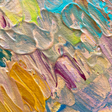 "Load image into Gallery viewer, ""Garden Party"" Abstract Textured Acrylic Painting"