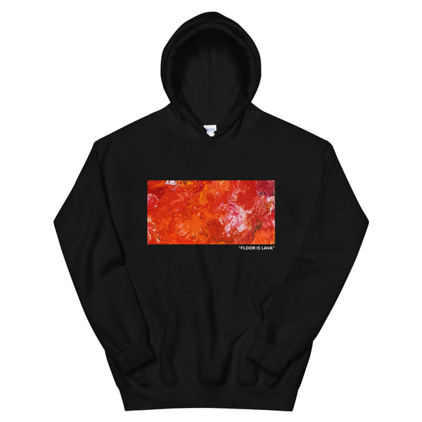 """Floor Is Lava"" Black Hoodie"