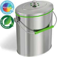 Load image into Gallery viewer, Titanium 1.6 Gallon Oval Compost Bin