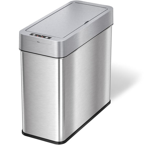 4 Gallon Stainless Steel Slim Sensor Trash Can