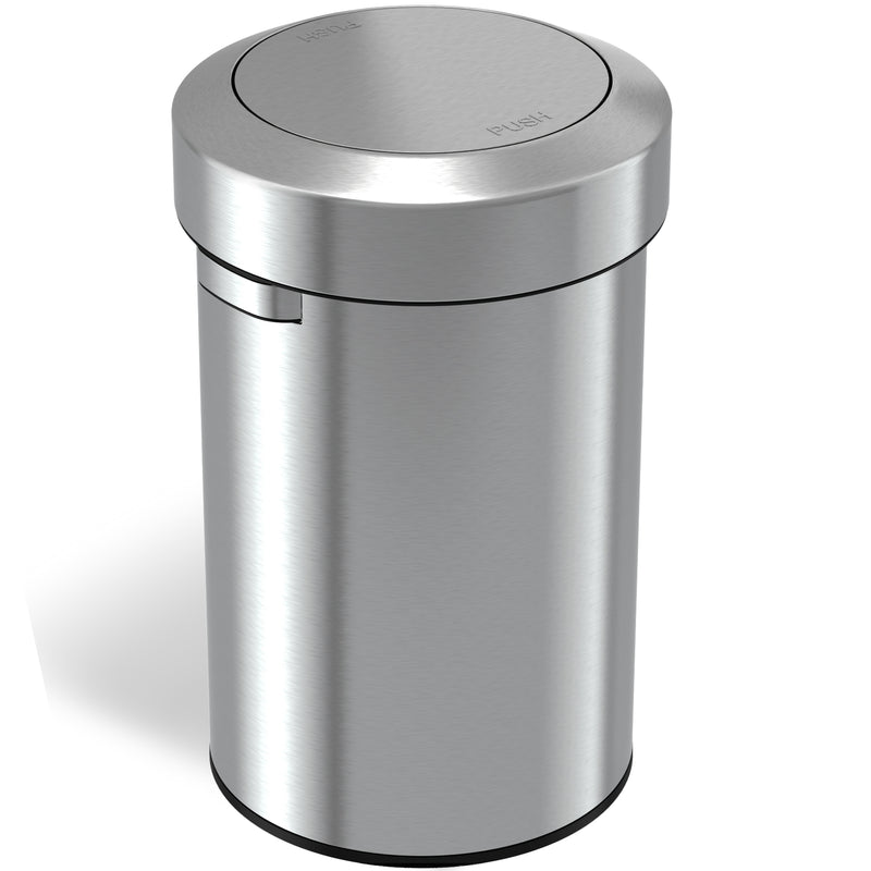 Titan 17 Gallon Swing Top Stainless Steel Trash Can