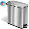 iTouchless SoftStep™ 3 Gallon Slim Bathroom Stainless Steel Step Trash Can