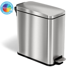 Load image into Gallery viewer, SoftStep™ 3 Gallon Slim Bathroom Stainless Steel Step Trash Can