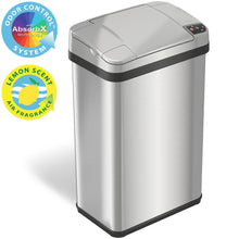 Load image into Gallery viewer, 4 Gallon Stainless Steel Touchless Trash Can with Deodorizer and Fragrance