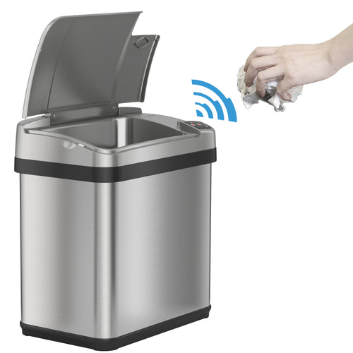 2.5 Gallon Stainless Steel Touchless Trash Can with Deodorizer and Fragrance