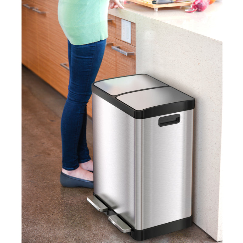 SoftStep™ 60 Liter Stainless Steel Step Trash Can