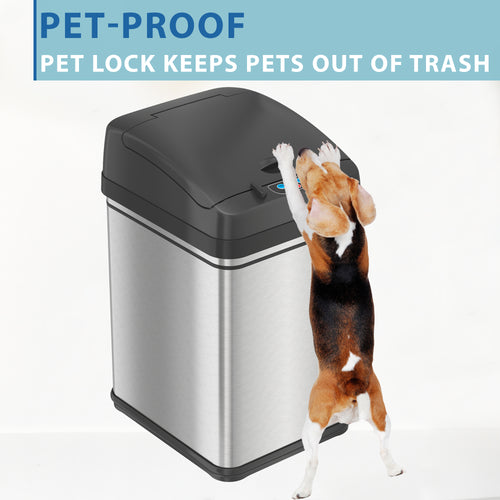 8 Gallon Pet-Proof Sensor Trash Can