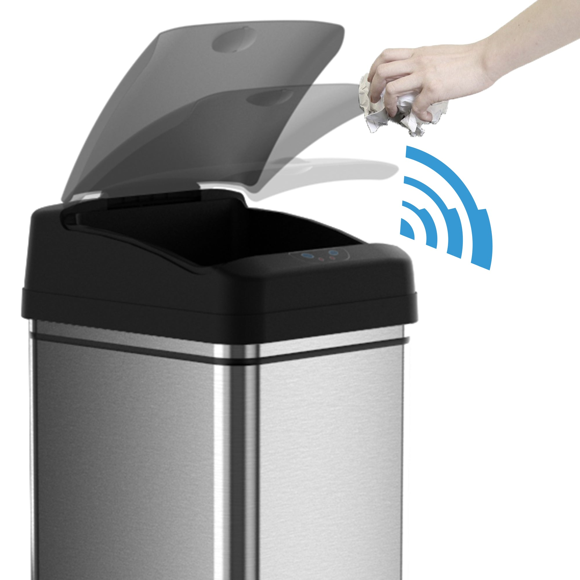 13 Gallon Sensor Trash Can Itouchless Housewares And Products Inc