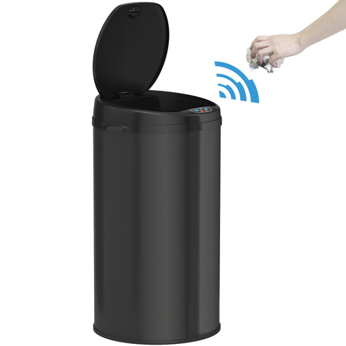 8 Gallon Round Deodorizer Black Sensor Can