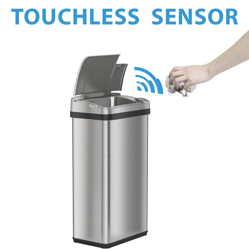 iTouchless 4 Gallon Stainless Steel Touchless Trash Can with Deodorizer and Fragrance