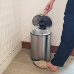 SoftStep™ 3 Gallon Semi-Round Step Trash Can with AbsorbX Odor Filter