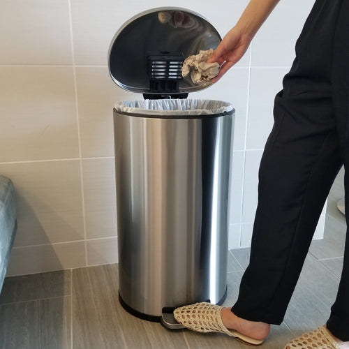 8 Gallon / 30 Liter SoftStep Semi-Round Step Pedal Trash Can