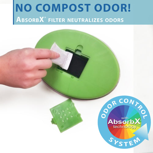 AbsorbX Trash Can Compact Odor Filter (3-Pack)
