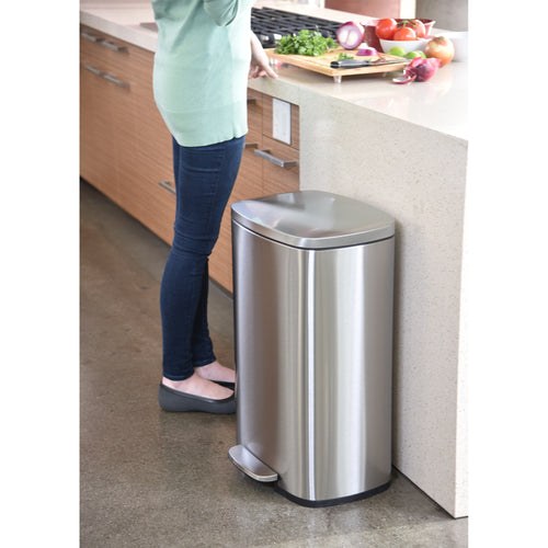 SoftStep™ 50 Liter Stainless Steel Step Trash Can