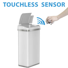 Load image into Gallery viewer, 4 Gallon White Touchless Trash Can with Deodorizer and Fragrance