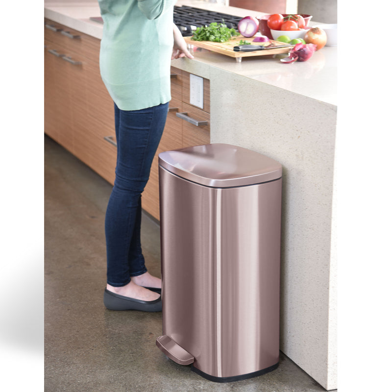 13.2 Gallon / 50 Liter SoftStep Rose Gold Step Pedal Trash Can