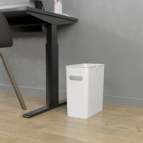 SlimGiant 4.2 Gallon Polar White Open Trash Can