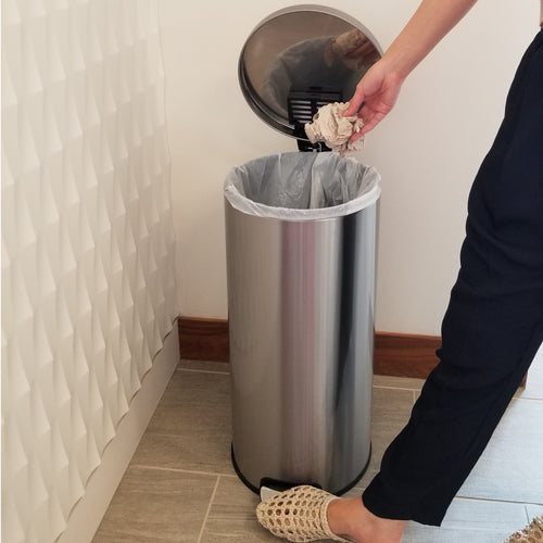 8 Gallon / 30 Liter SoftStep Round Step Pedal Trash Can