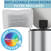 SoftStep™ 8 Gallon Step Trash Can with AbsorbX Odor Filter