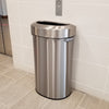 23 Gallon / 87 Liter Semi-Round Open Top Trash Can