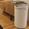 8 Gallon Ivory White Sensor Trash Can