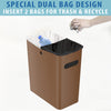 SlimGiant 4.2 Gallon Toffee Brown Open Trash Can (2-Pack)