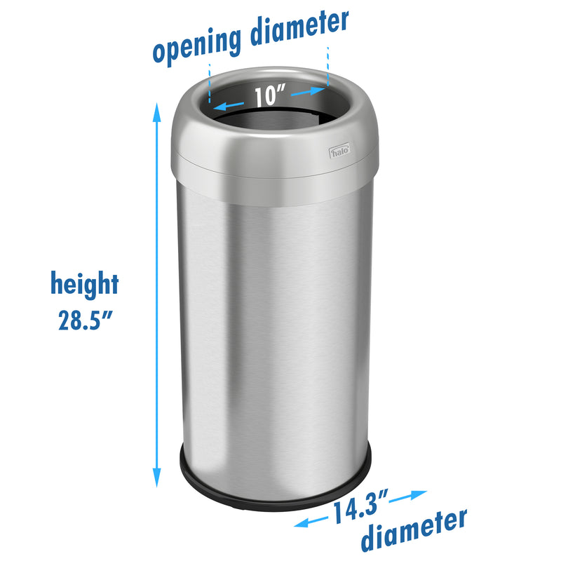 16 Gallon / 61 Liter Round Open Top Trash Can