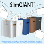 SlimGiant 4.2 Gallon Reactive Blue Open Trash Can (2-Pack)